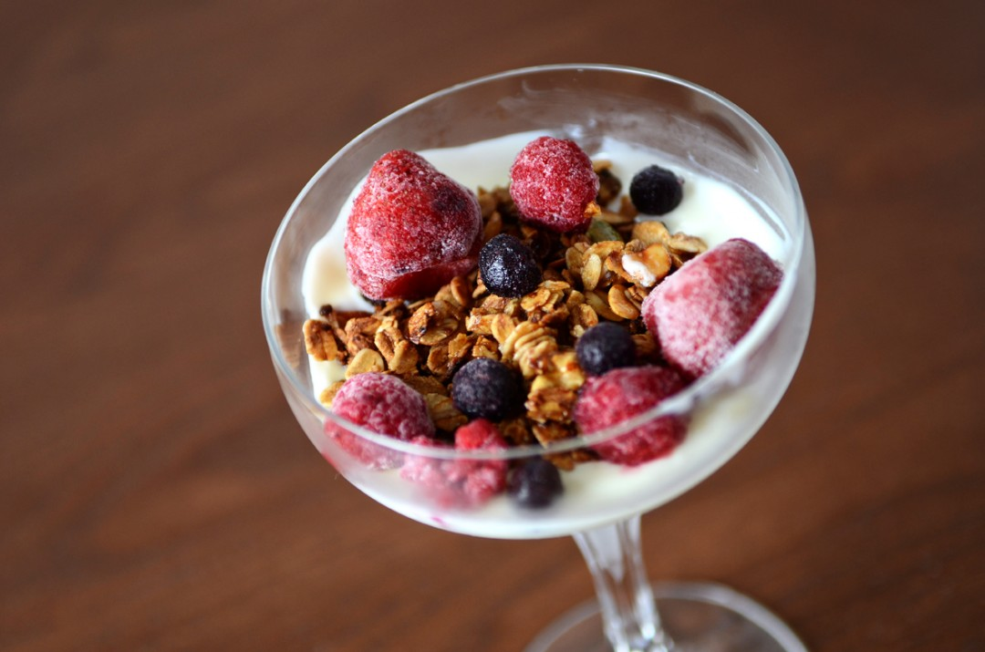 Yogurt with Granola & Mixed Berries