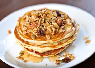 Pancakes with Granola