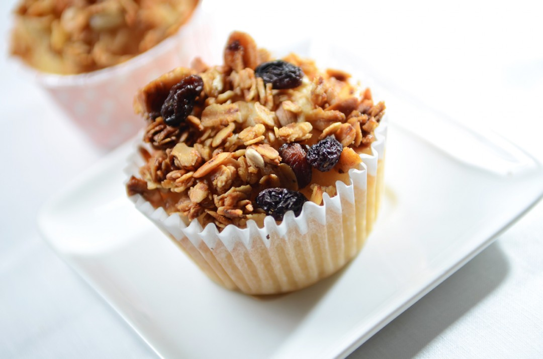 Lemon Yogurt Muffin with Granola