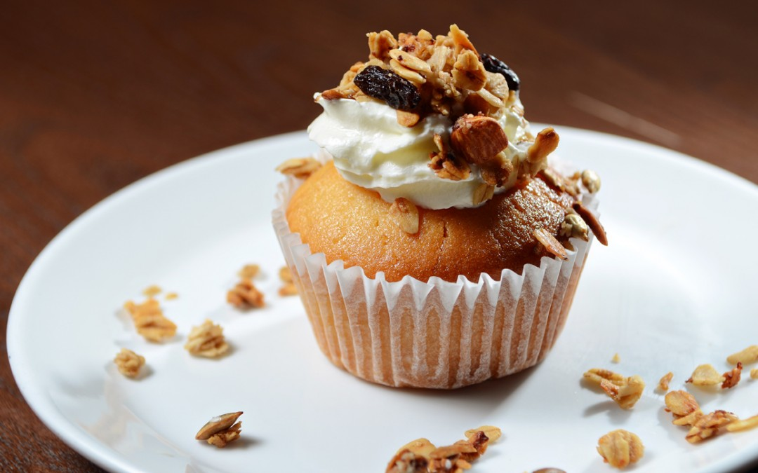 Vanilla Muffin with Granola