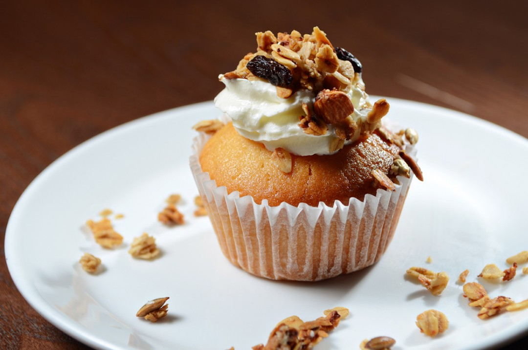 Vanilla Muffin with Granola