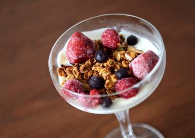 Yogurt with Granola & Mixed Berries