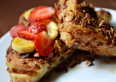 French Toast with Granola