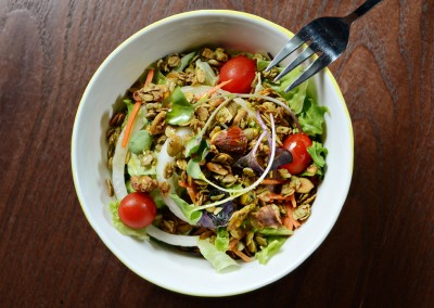 Salad with Olive Oil and Granola