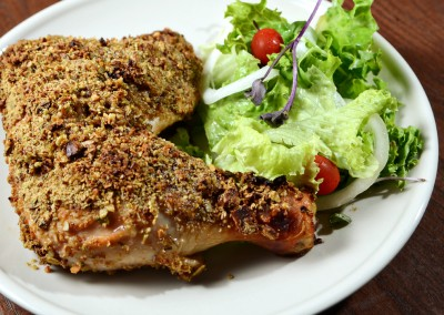 Roasted Chicken with Granola